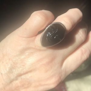 Jewelry - Sterling silver and ONYX Face ring